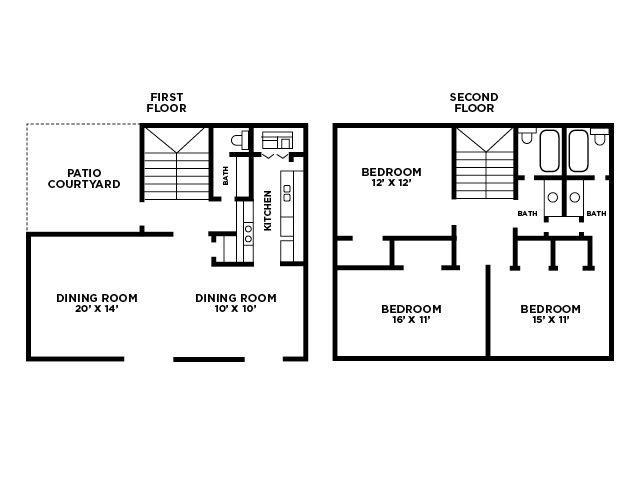 Three Bedroom Floor Plan Floor Plan 7