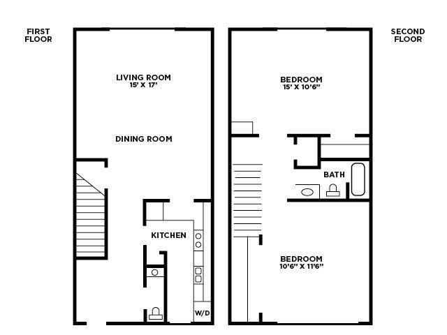 Two Bedroom Floor Plan B Floor Plan 3