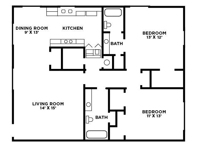 TwoBedroom Floor Plan E Floor Plan 6
