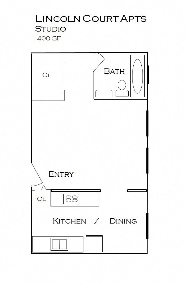 Lincoln Court apartments floorplan