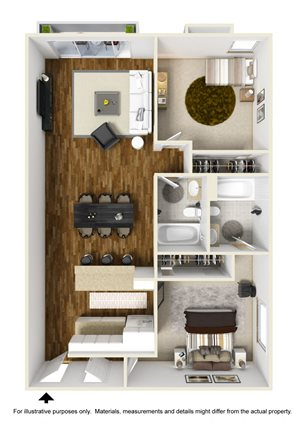 2 Bed 2 Bath Plan B