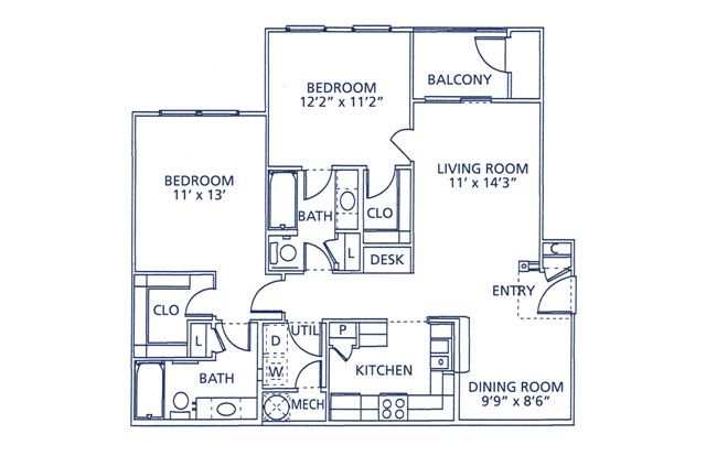 Lafayette Floor Plan at Berkshire at Citrus Park, Tampa, FL