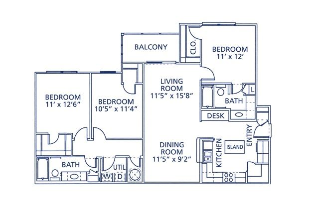Ogelthorp Floor Plan at Berkshire at Citrus Park, Tampa, 33625