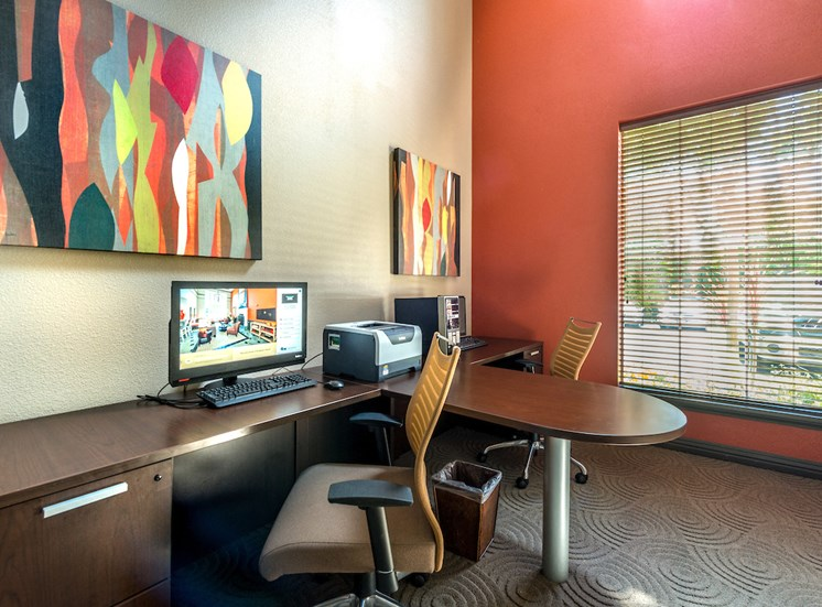 Business center with free computer and internet access