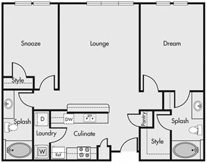 Two Bedroom 1.5
