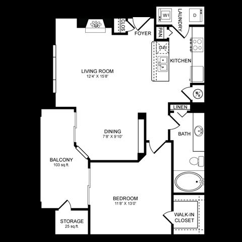 A4.2 Floor Plan at San Marin, Austin, TX