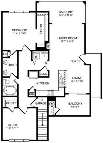 A7 Floor Plan at San Marin, Texas, 78759