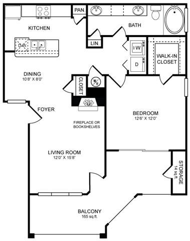 A4.1 Floor Plan at San Marin, Austin