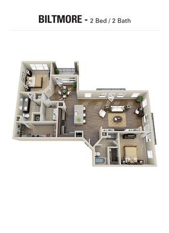 Biltmore Floor Plan at Berkshire Cameron Village, North Carolina, 27605