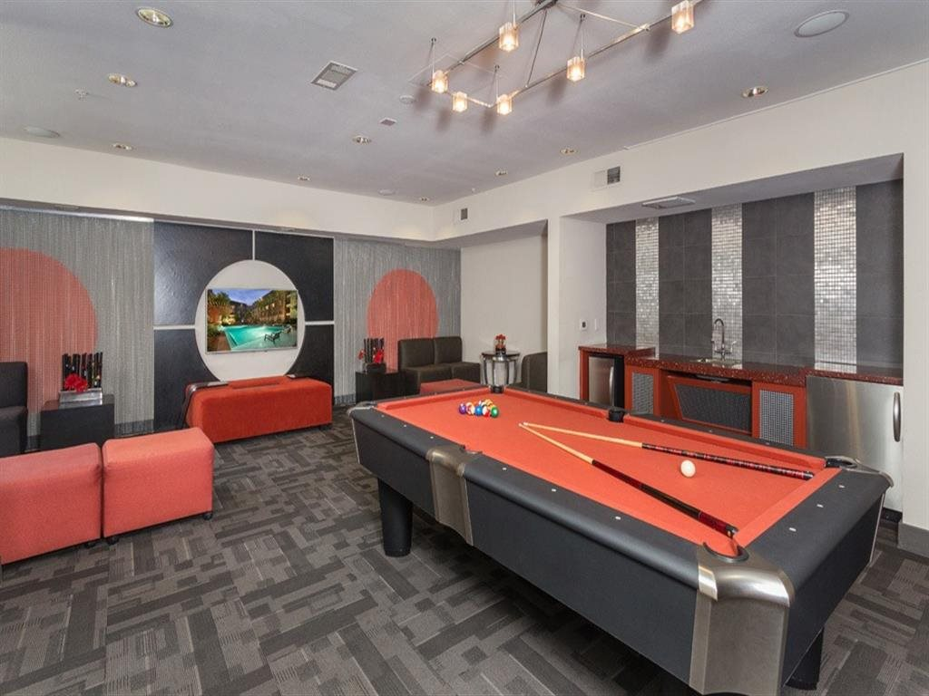 Resident Clubroom with Billiards