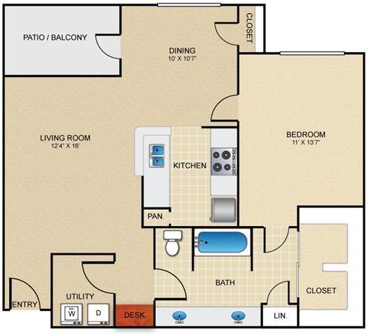 A3 Floor Plan at Estates at Bellaire, Houston, TX