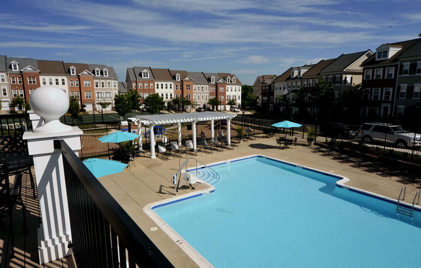 Aerial View Of Pool at Metro Place at Town Center, Camp Springs, MD