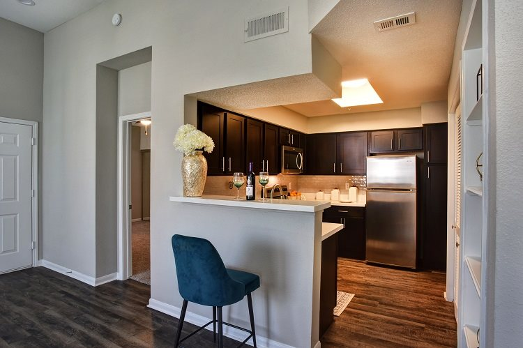 Fully Equipped Kitchen at Greenbriar Park, Houston, TX