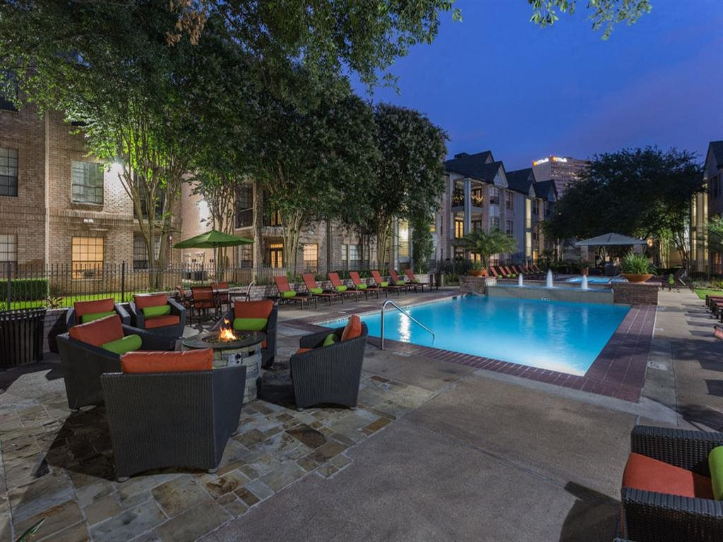 Poolside Relaxing Area at Greenbriar Park, Houston
