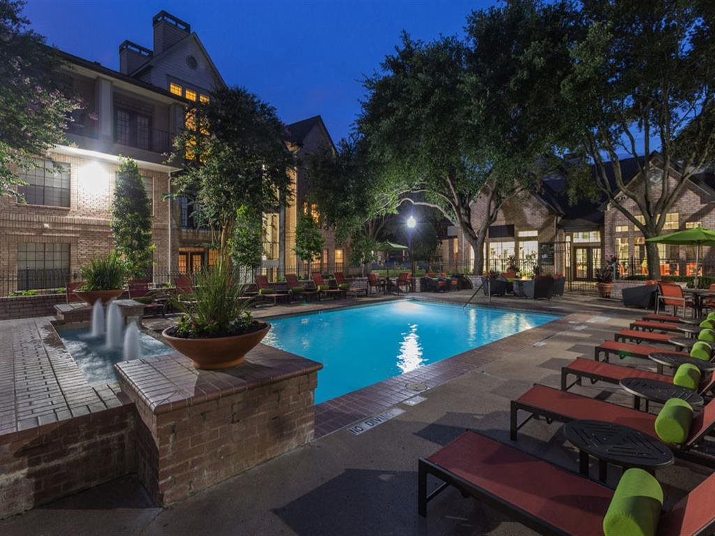 Poolside Lounge Area at Greenbriar Park, Houston, TX