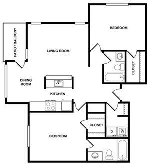 2 Bedroom 2 Bath