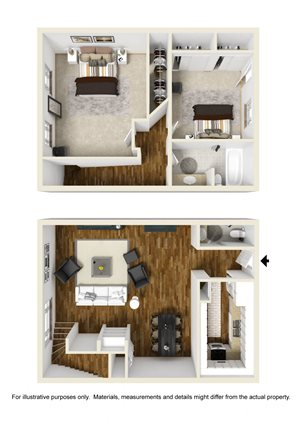 2 Bed Townhome