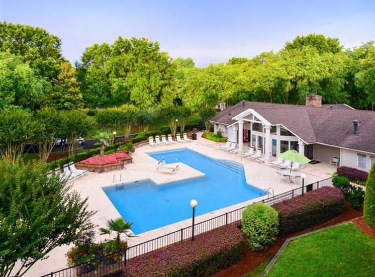 Aerial View Of Pool at Ascent Pineville, Charlotte, 28226