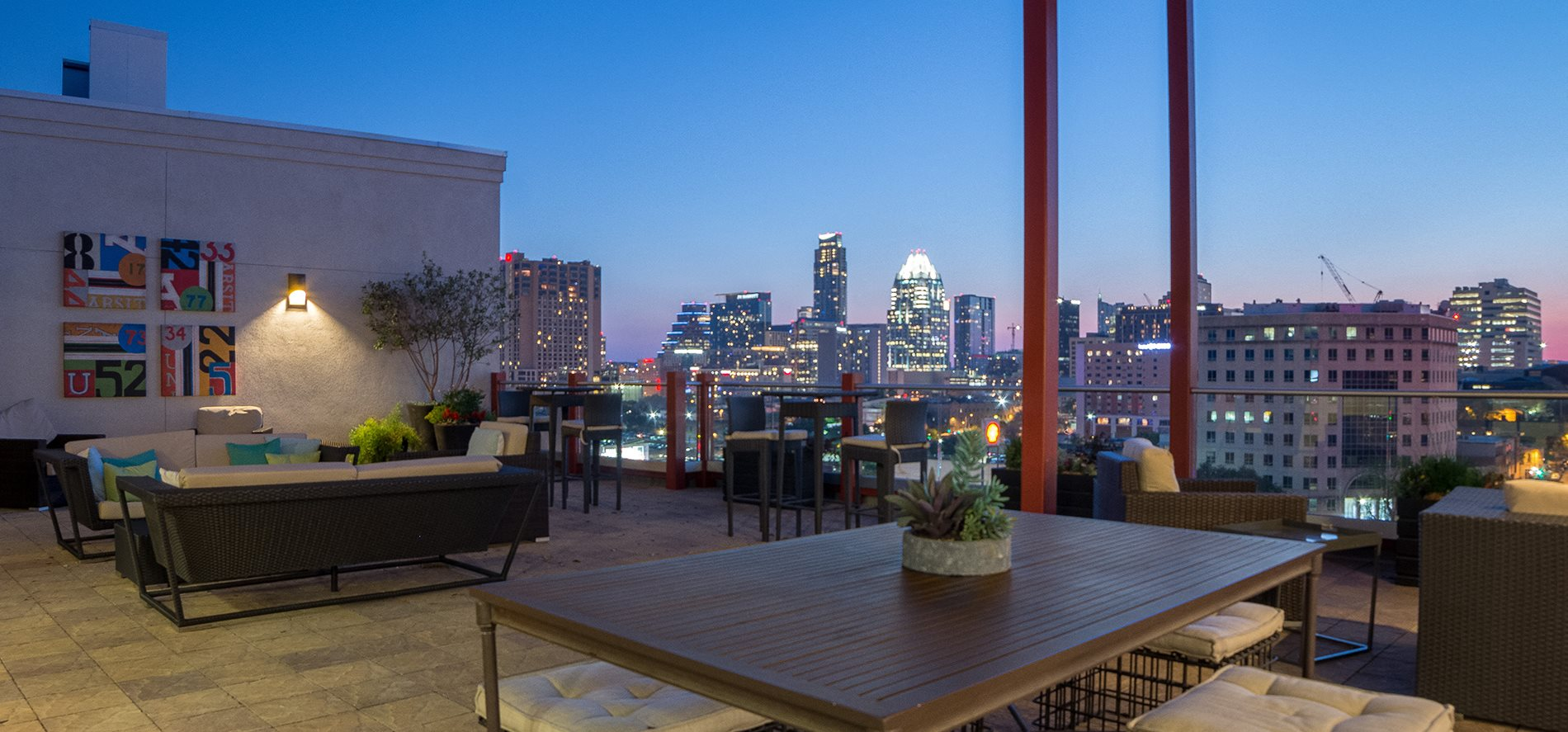 Terrace Rooftop Lounge at Eleven by Windsor, Austin, Texas