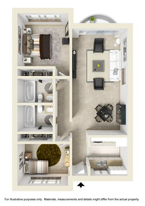 2 Bed 2 Bath with Fireplace