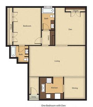 One Bedroom Den