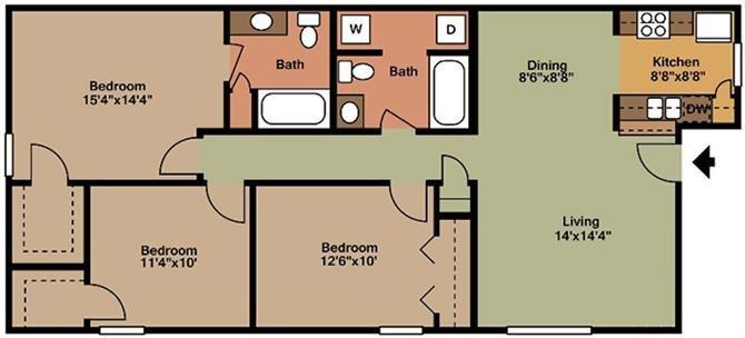 3 Bedroom - C Floor Plan 3