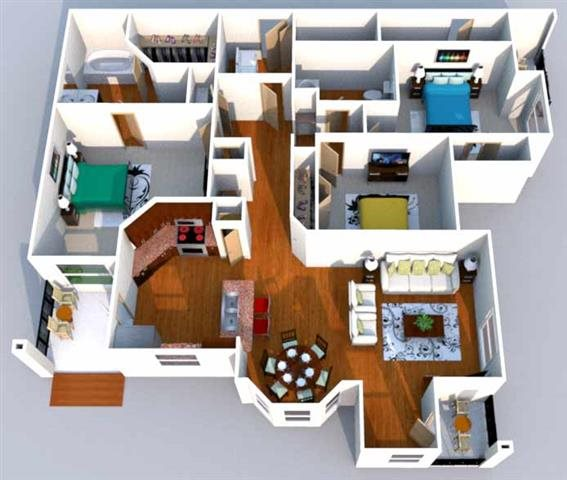 Floor Plans Of Trinity Bell Gardens Apartments In Fort Worth Tx