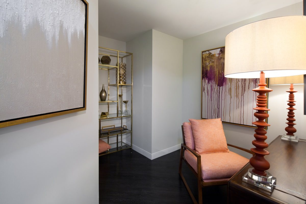 Create a home office in a one bedroom den apartment at Buckler in Milwaukee, WI.