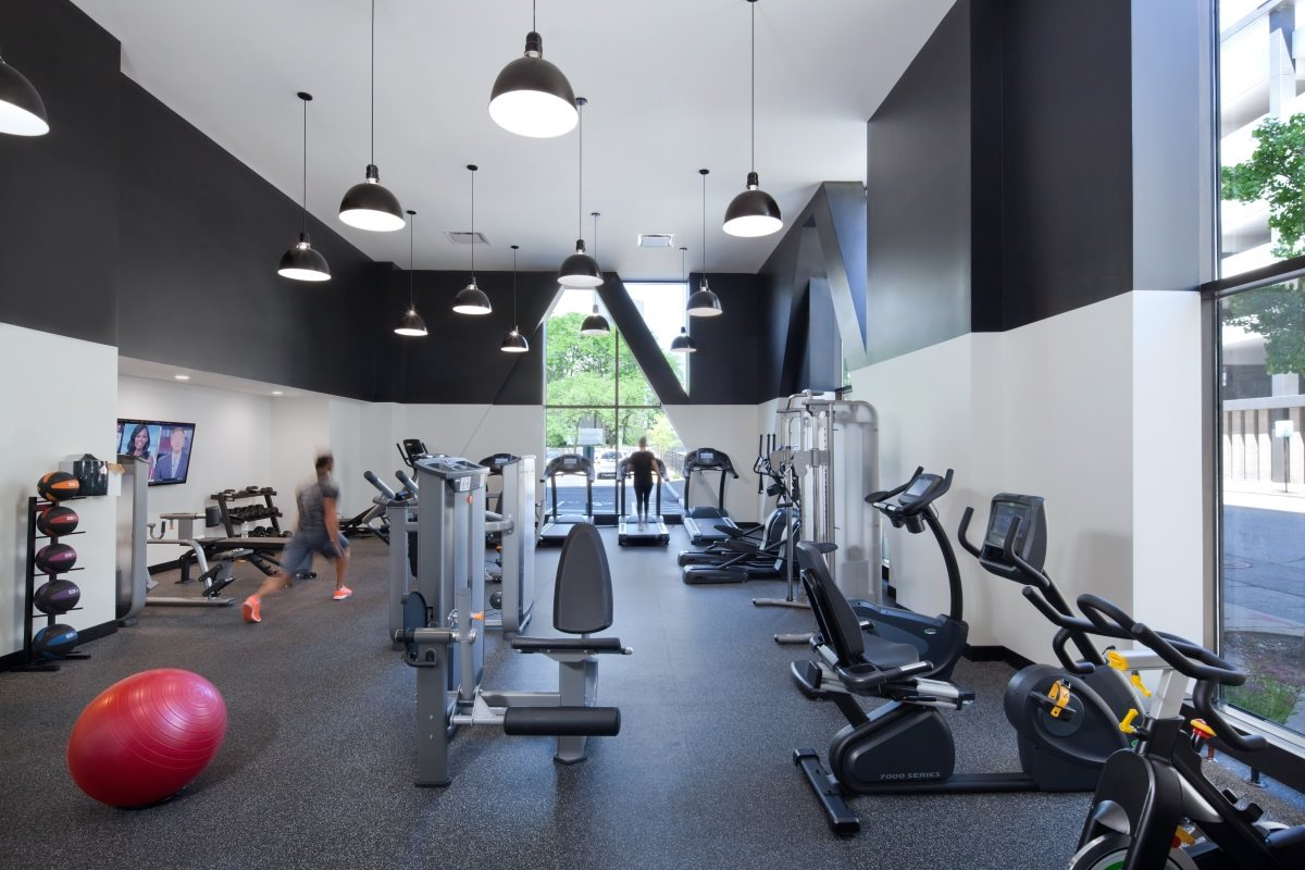 Break a sweat in The Buckler's 24-hour fitness gym.