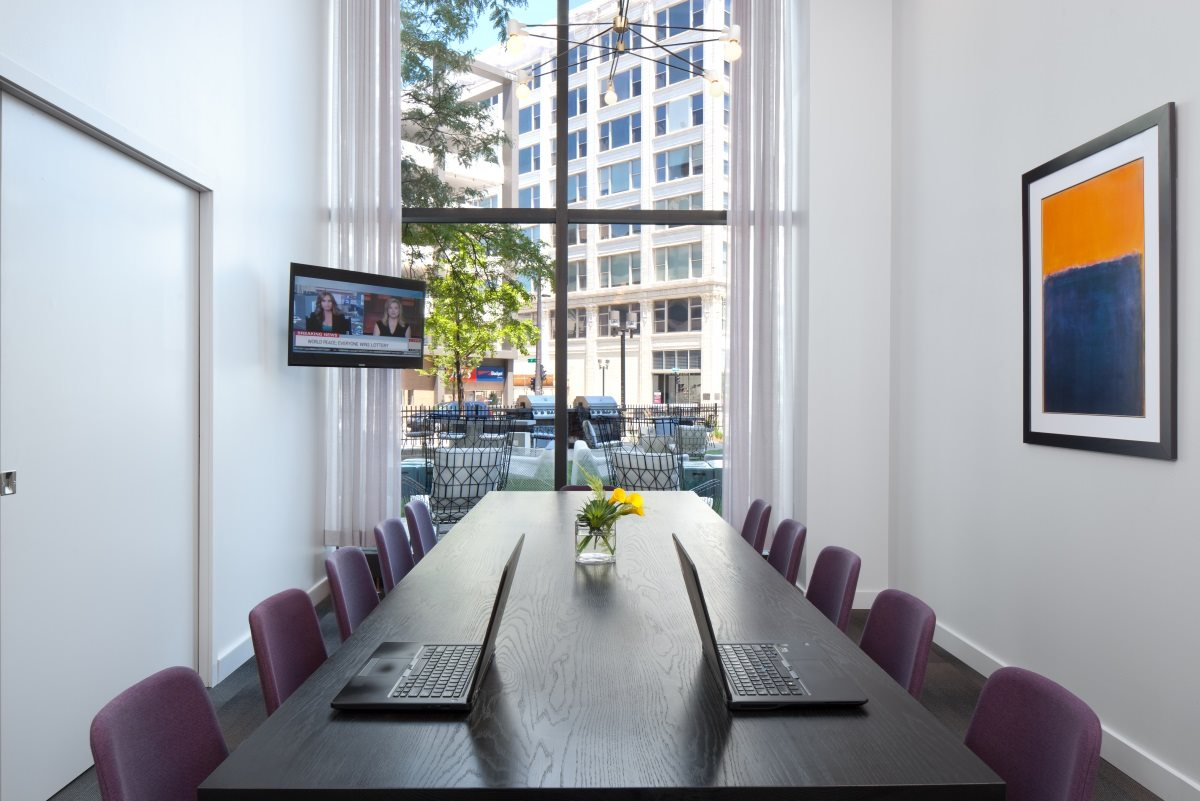 Work from home with ease in The Buckler's private conference room.