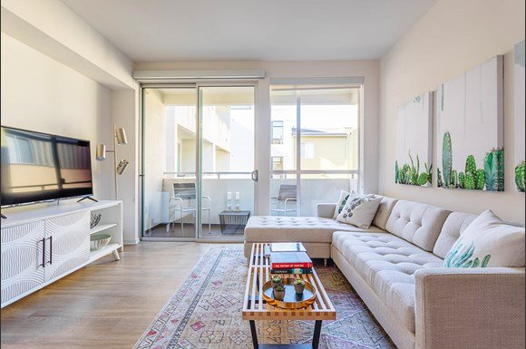 Santa-Monica-Luxury-Apartments-1548-6th-Spacious-Living-Room-With-Private-Balcony