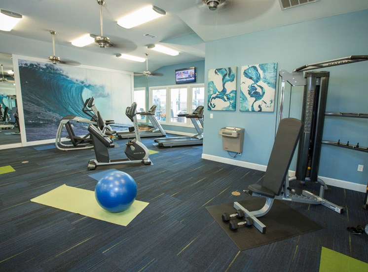 Fully Equipped Fitness Center at Grande View Apartment Homes, Biloxi, MS 39531