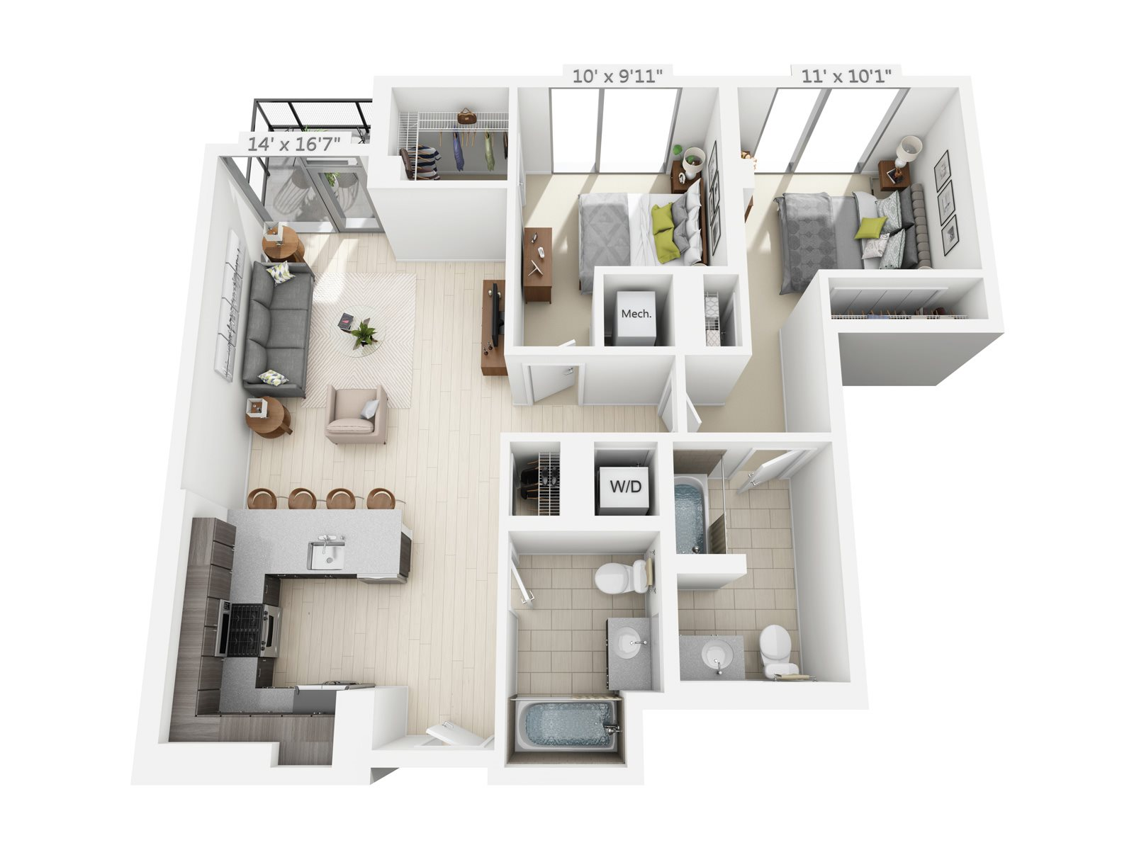 2 BEDROOM/2 BATH C5 Floor Plan 11
