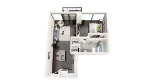 AZB1 1 BEDROOM/1 BATH
