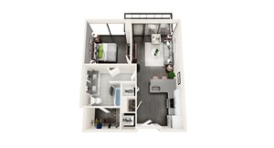 AZB3a 1 BEDROOM/1 BATH
