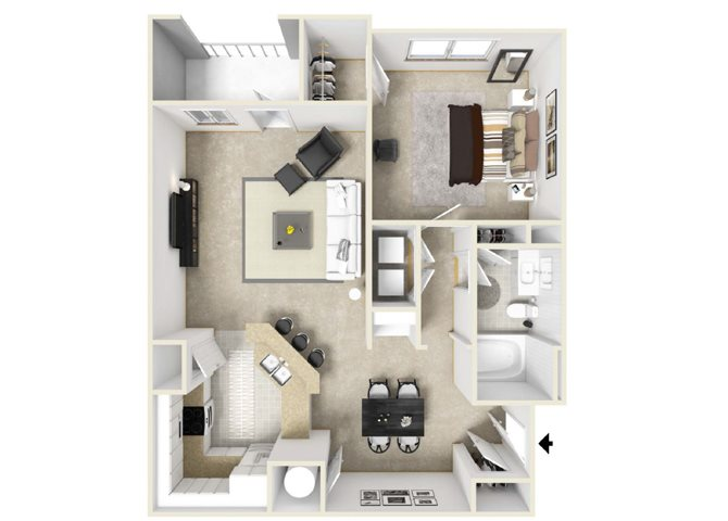 The Florida Floorplan at Villas at Hannover