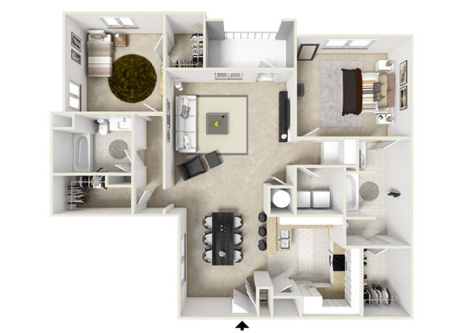 The North Carolina Floorplan at Villas at Hannover