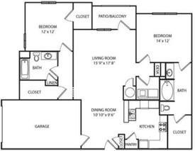 The South Carolina Floorplan at Villas at Hannover