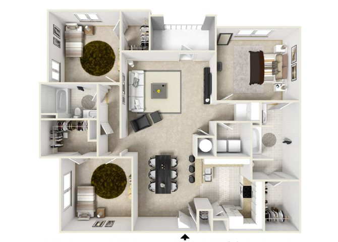 The Virginia Floorplan at Villas at Hannover