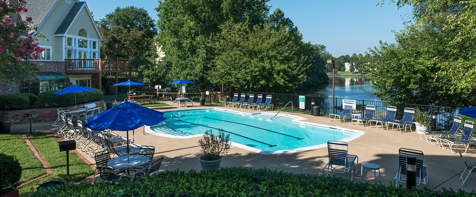 Pool at apartments in Henrico VA