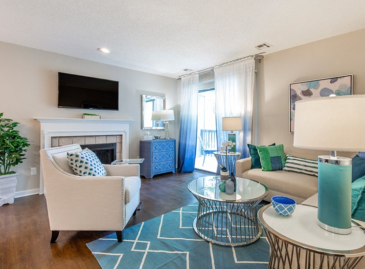 living area at apartments near Short Pump