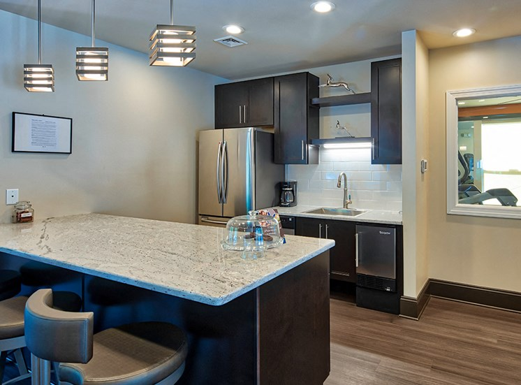 Kitchen at Clubhouse at Hanover Crossing Apartments