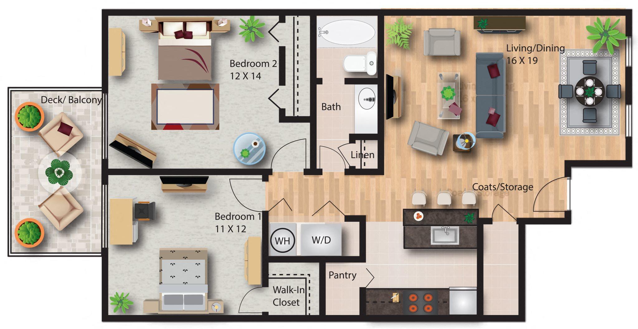 Hickory Floor Plan 5