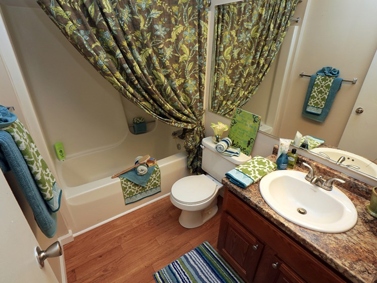 Exemplary Bathrooms  At The Bronco Club Townhomes In Kalamazoo, MI Near Western Michigan University
