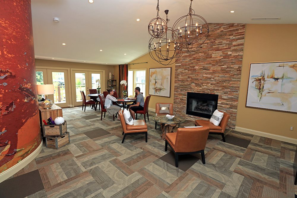 Lounge in the spacious Clubhouse