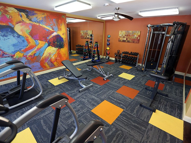 Fitness Center At The Bronco Club Townhomes In Kalamazoo, MI Near Western Michigan University