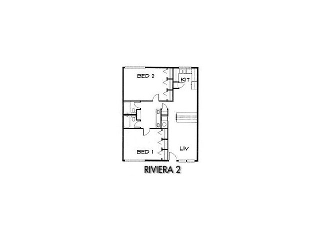 2 Bed Floor Plan 2
