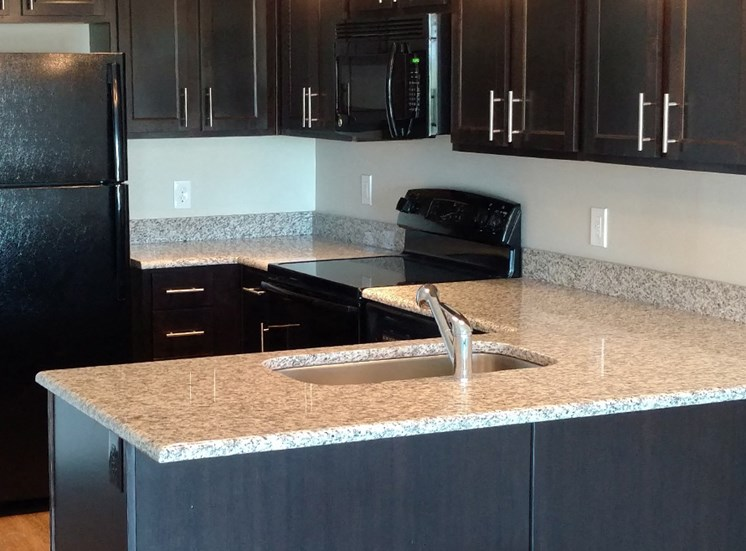 New Luxury Apartment Kitchen in Birmingham AL
