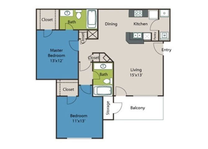 Highland B1 Floor Plan 3