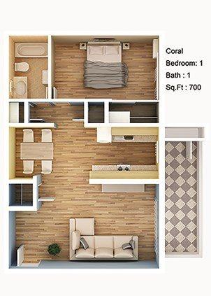Coral Floor Plan 1